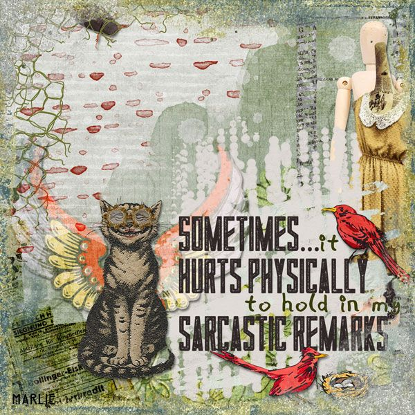 Sometimes it hurts created by Marlie with Days of Sarcasm and Roses by 2 Curly Headed Monsters Designs. Available @ Mischief Circus. Thanks for looking!