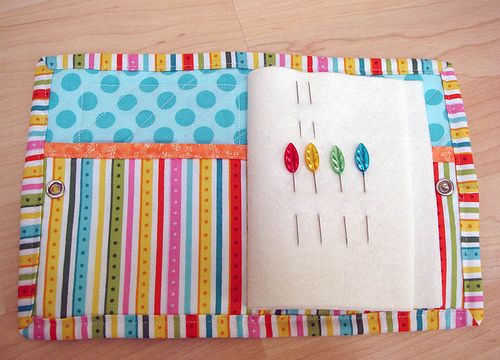 Rainbow needle book open | Inside there are four pages of fe… | Flickr