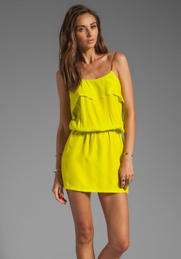 KARINA GRIMALDI Raffaela Solid Mini in Neon Yellow