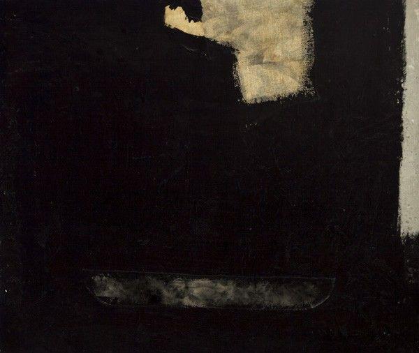 Ahti Lavonen: Maalaus No. 1, 1961, sekatekniikka, 90x110 cm - Hagelstam K126