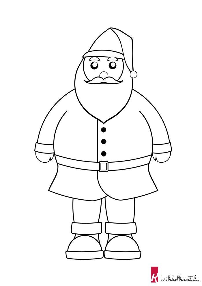 diese weihnachtsmann vorlage im pdf format und weitere