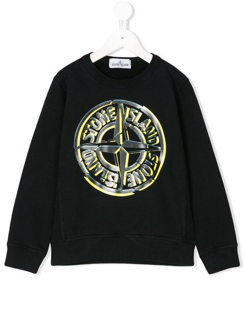 Stone Island Junior logo print sweatshirt