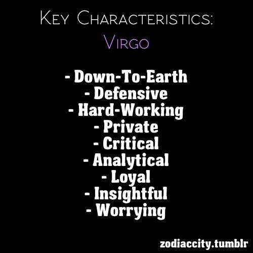 Virgo key characteristics... | Virgo ♥ | Pinterest
