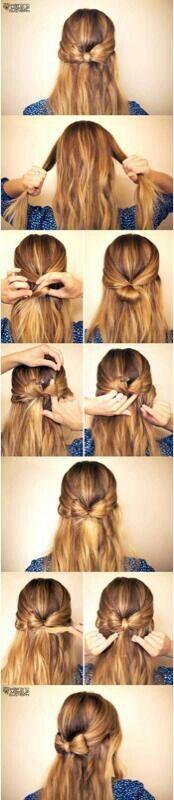 Step by step hair bow