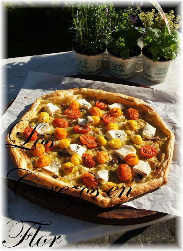 Los cerezos en flor: Tarta de tomates cherry y queso de cabra