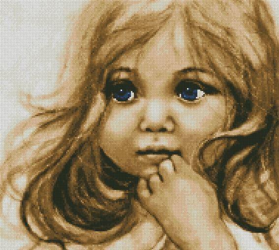Cross Stitch Pattern ''Blue Eyes'' PDF by CFC14 on Etsy