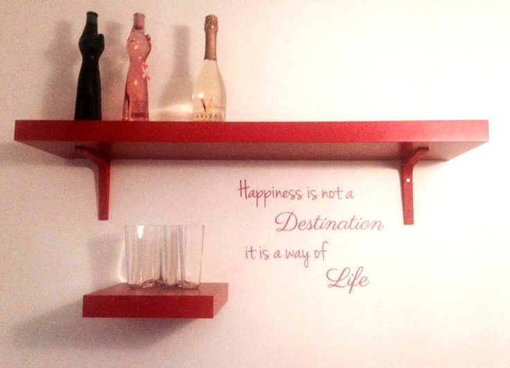 Happiness is not a destination, it's a way of life. #sisustustarra #red