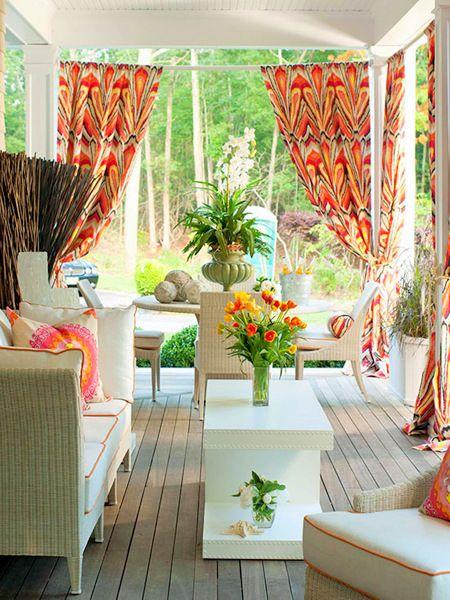 Kültéri, kerti függöny,  – ötletek. II rész.