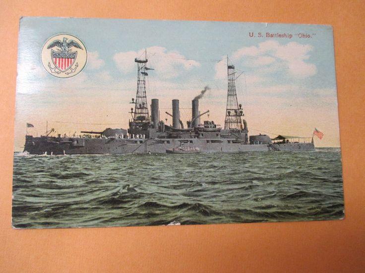 US BATTLESHIP OHIO  1910 CIRCU
