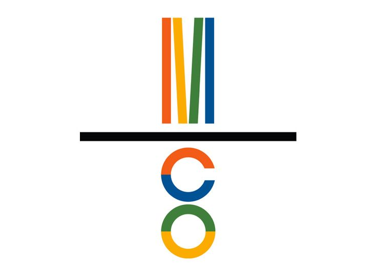 Paul Rand's logo for Mossberg & Company, 1987. It offers commercial printing services.