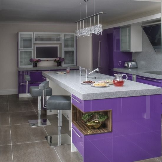 LOOOOVE this - something a little different.  friends will be laughing thinking it is because of the purple....love to wear purple, not thinking of it for the kitchen!