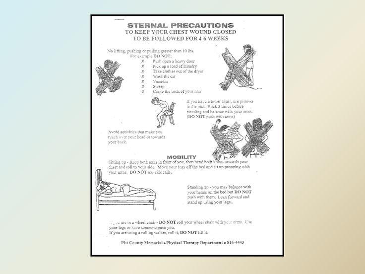sternal precautions handout