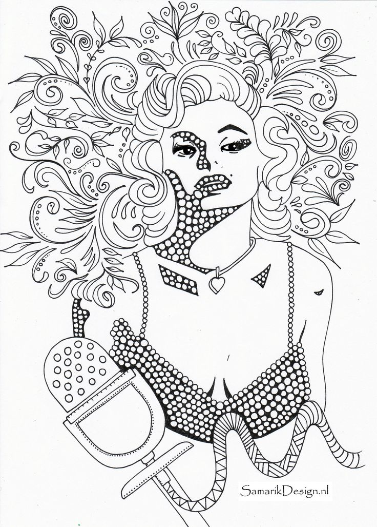 printable marilyn monroe coloring pages - photo#36