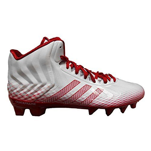 adidas CrazyQuick Mid Men's Football Cleats (10, Running White/Unired/Unired)