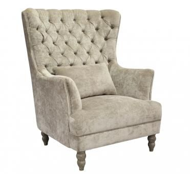 Francesca Wingback Cream. A Block and Chisel Product.