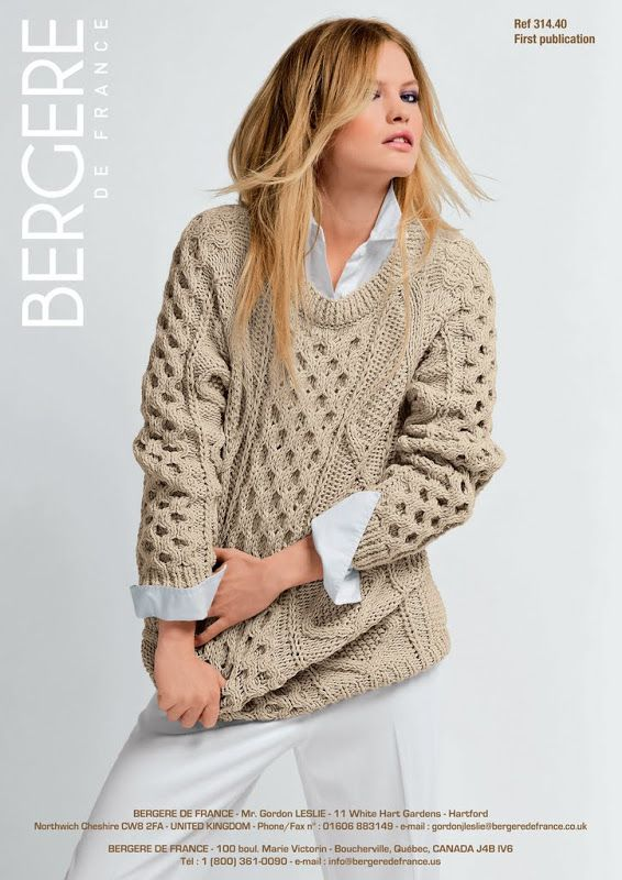Bergere de France – Irish Knit Sweater