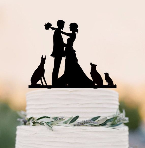 Wedding Cake Topper /Engagement Cake Decoration (Cat Dog Puppy Pet) Material…