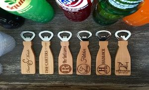 Groupon - One or Two Personalized Magnetic Bottle Openers in [missing {{location}} value]. Groupon deal price: $9.99