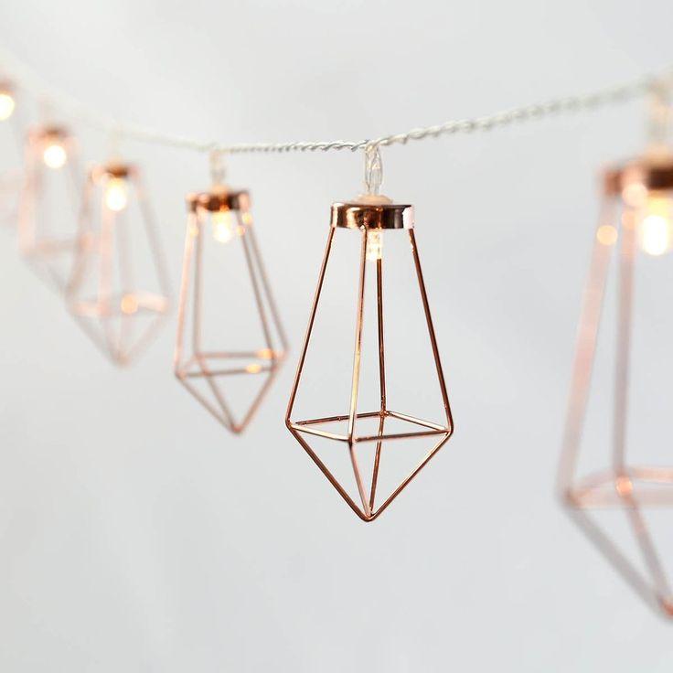 Copper Lantern String Lights