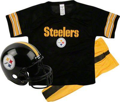 Pittsburgh Steelers Kids/Youth Football Helmet Uniform Set