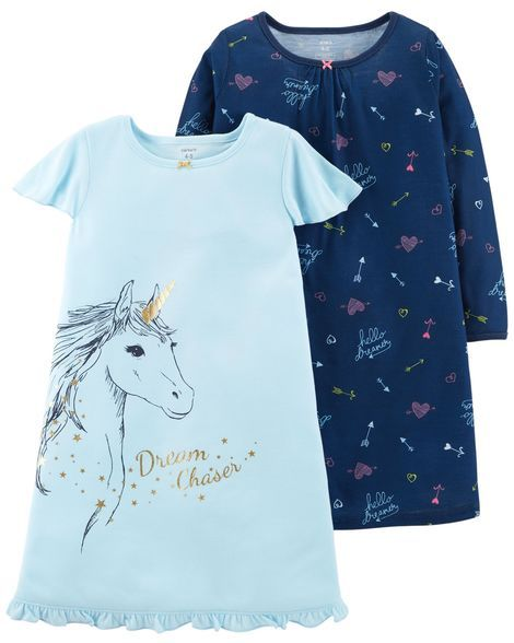 2-Pack Unicorn Sleep Gowns from Carters.com. Shop clothing   accessories  from a trusted name in kids ddc48a8f8