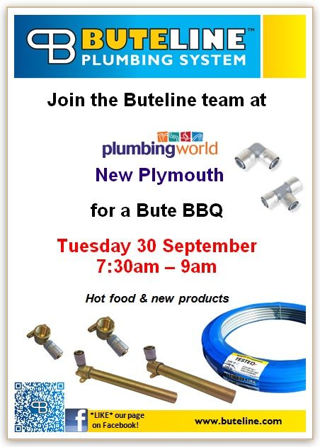 Bute BBQ @ Plumbing World New Plymouth on Tue 30 Sep 2014