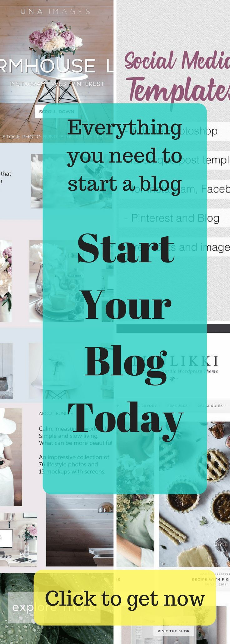 Have you ever wanted to start a blog but have no clue were to start. Click to get all the blogging resources, blogging tools, social media templates, fonts, blog theme, everything you need to start a blog. #blogging, #newblogger, #blogresources