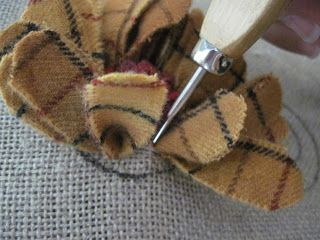 Tutorial: re-purpose wool clothing strips to make FLOWERS for hat/pillow/lapel pins