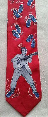 Necktie ELVIS Blue Suede Shoes - Elvis Presley Collections by Superba 100% Silk