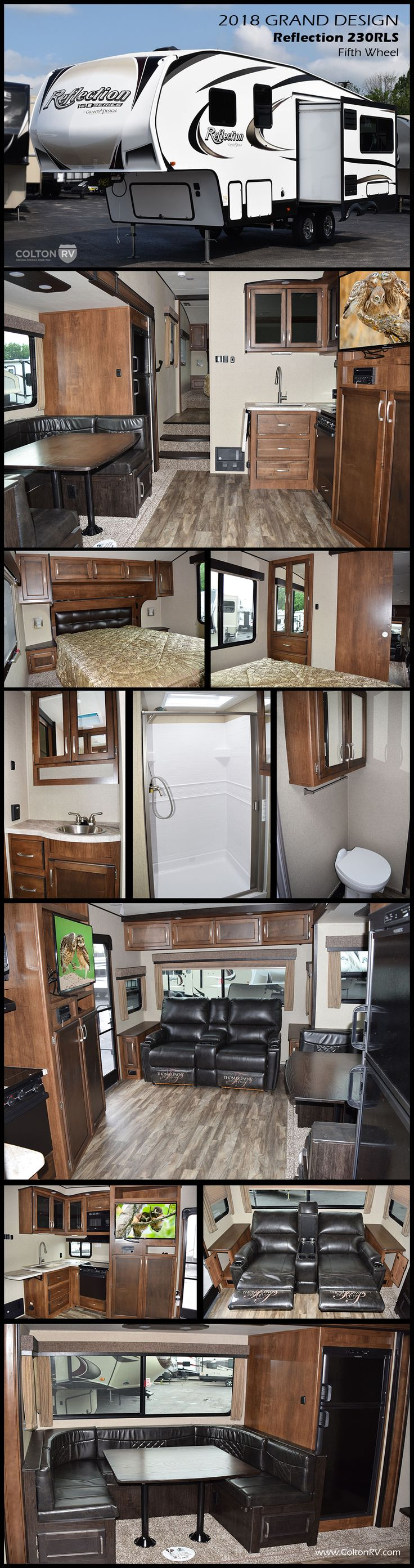 The Grand Design Reflection 150 Series Model 230RLS Fifth Wheel Delivers Maximum Living Without Maxing Out Your Truck This 230RL Offers A Rear