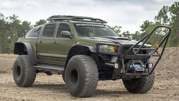 $400000 #2010 #tacoma that did a world record trip to the #northpole. Crazy: 330 gallon fuel tank for starters. Ain't no gas stations out there! #toyotatacoma #arctictrucks #stinger #tacomatrdpro #tacomaoffroad #tacomamafia #toyotatough #4wdto #4wdtoyotaowner #4wdtoyotaownermagazine #subscribetoday http://ift.tt/2BLotkq