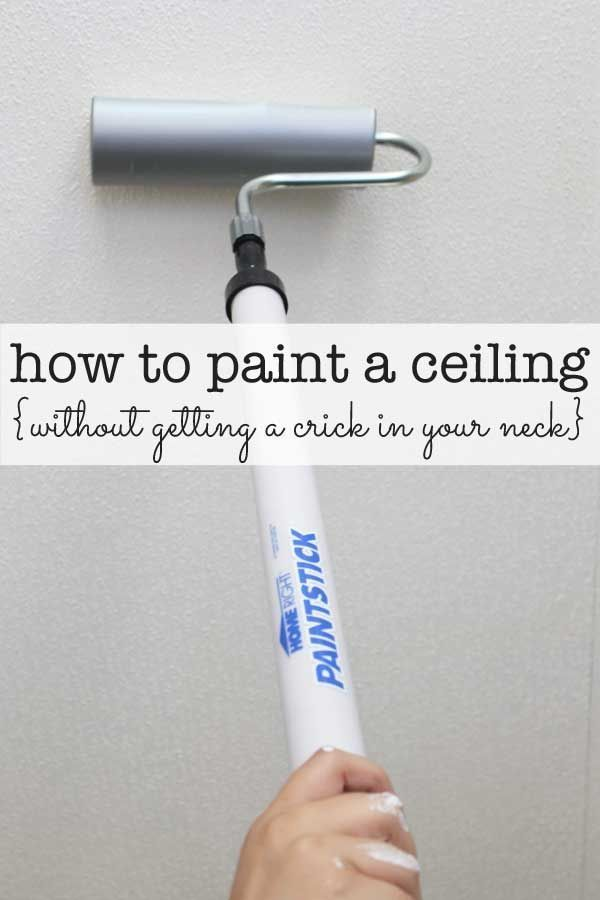 the mess free, pain free way to paint a ceiling using the PaintStick