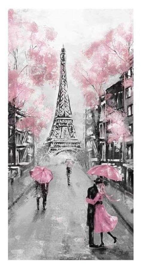 La vie en rose et J'ai deux amours !!!!! | Paris ♥️ in 2019 | Paris painting, Painting, Pink painting