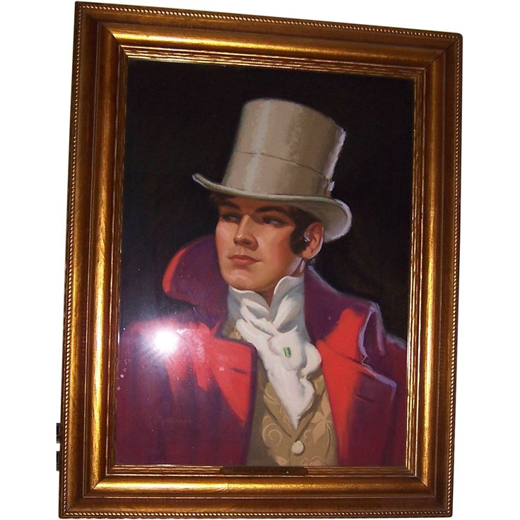 Offered for sale is  this handsome original advertising/illustration (Trademark) portrait of Beau Brummell done especially for Beau Brummell Ties,