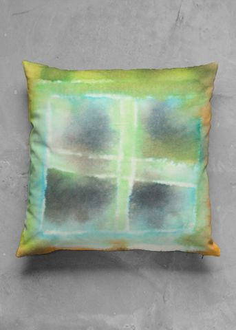 colorful accent pillow by marikakk