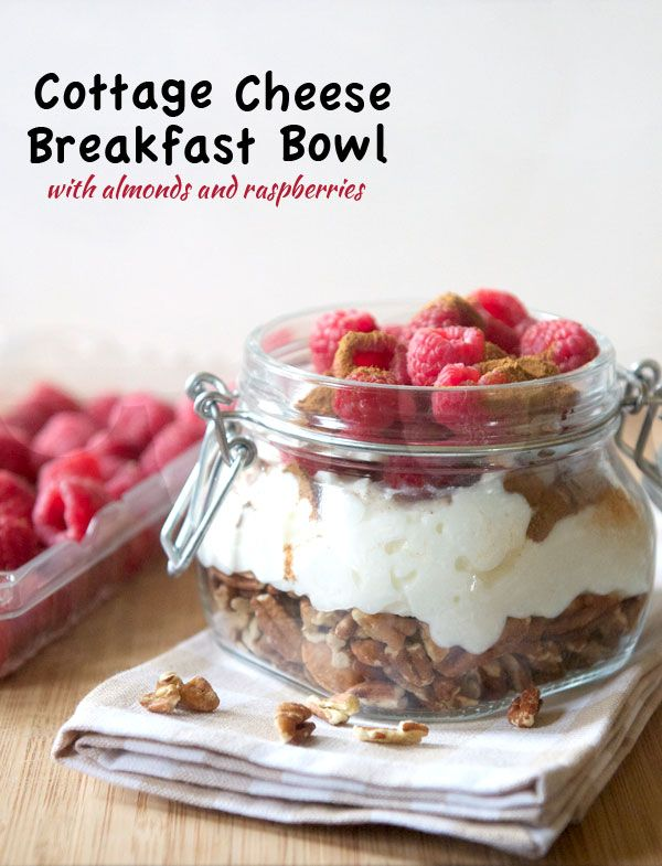 This cottage cheese breakfast bowl is fun way to eat your cottage cheese. Topped with fruit and nuts, it's both healthy and delicious.