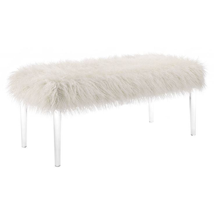 Faux Flokati Acrylic Bench, $159.99 $119.99 + 10% off with code SPRING