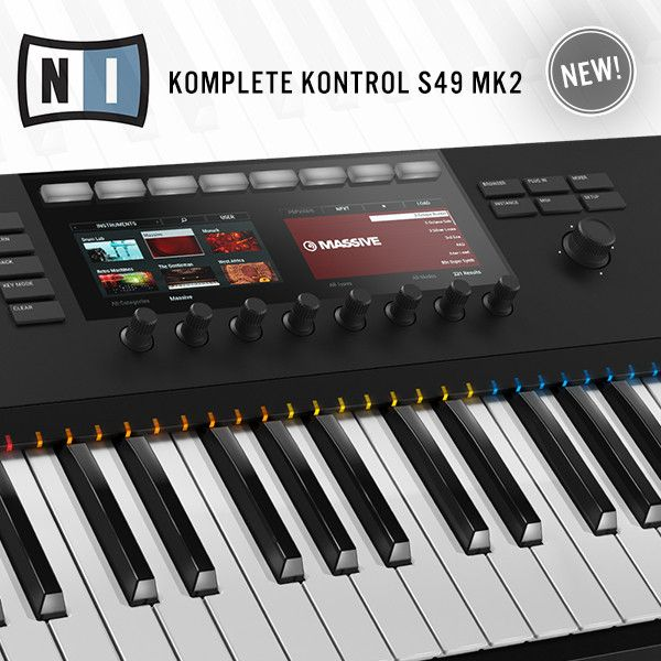 Native Instruments Komplete Kontrol S49 MK2 advanced MIDI Keyboard, brings you next-generation music making intuitiveness as well as the NI's deepest integration with Komplete software to date.