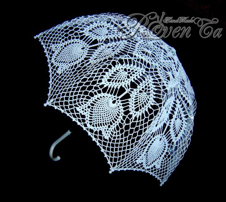 "RovenTa: Вязаный зонт ""8 марта"" roventa-handmade, umbrella, chrochet umbrella, crocheted umbrella, wedding umbrella, handmade,  вязаный зонт, зонт крючком, свадебный зонт, ажурный зонт"