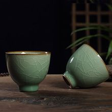 9 Kleuren Chinese Thee Sets Porselein Cup Longquan Celadon Kung Fu thee Drinkware Ge oven Thee Kommen Gift(China (Mainland))