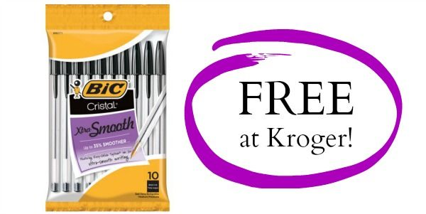 FREE Bic Cristal Pens 10 count at Kroger!