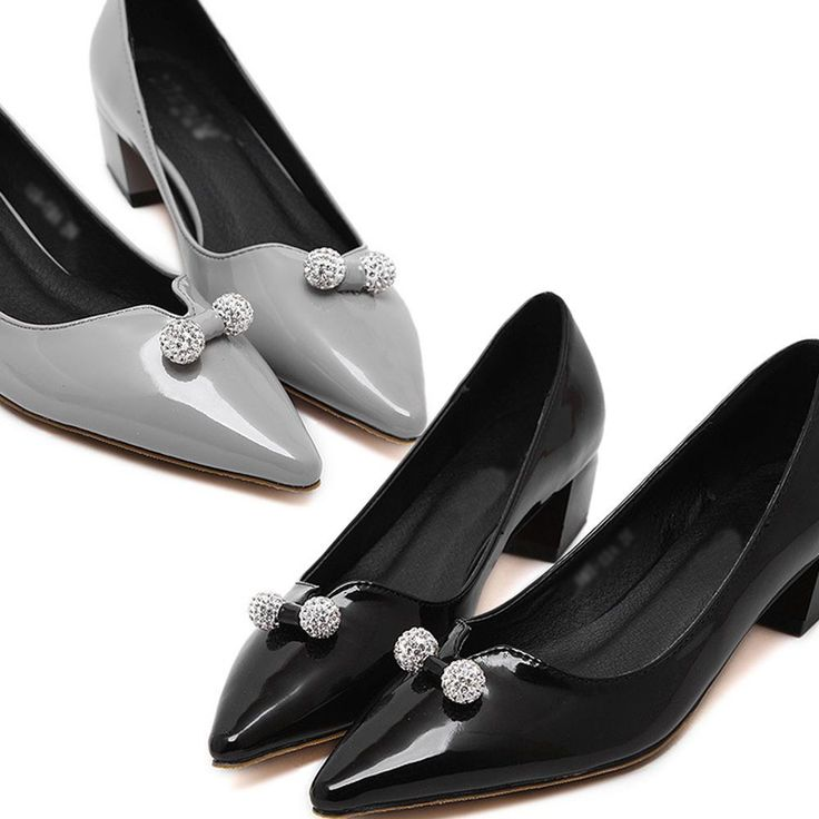 Women Casual Party Pumps Shoes Medium Heel Leather Us Size 6 6.5 7 7.5 8 A31-601