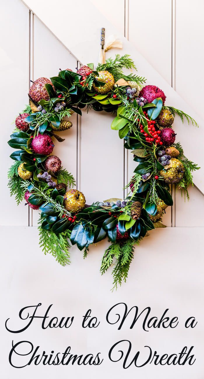 Fruit over the door christmas decoration - How To Make A Glittered Fruit Christmas Wreath