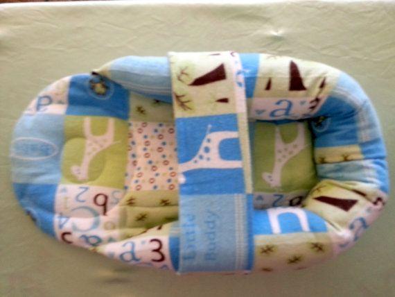 Micro-Preemie Cuddle Nest - Boy - Little Buddy Patch Print