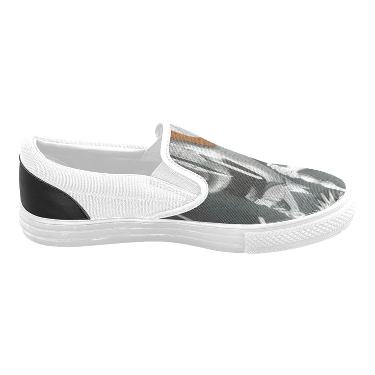 My Picasso Serie:Guernica Men's Slip-on Canvas Shoes (Model 019)