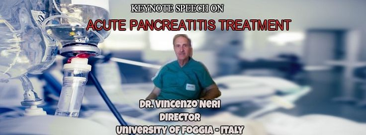 We are honoured to welcome #DrVincenzoNeri as a keynote speaker to the Pancreatic Cancer 2017 conference. He is going to deliver his talk on #ACUTEPANCREATITISTREATMENT.