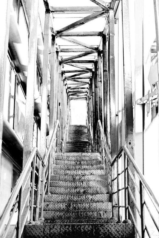 Vadim Goodwill Print featuring the photograph Stairway To The Light by Vadim Goodwill #VadimGoodwill#FineArt#HomeDecor#InteriorDesigh #City#Pigeon#architecture