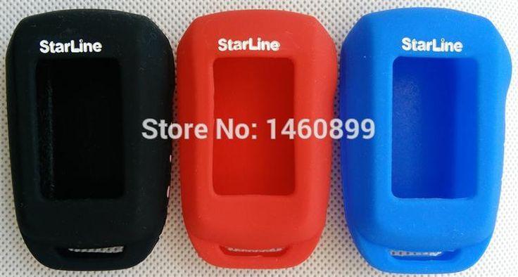 Funda de silicona, Compatible con Mando a distancia LCD de Alarma de Coche de Dos Vías Starline Llavero A92A92/A94/V62/A62/A64 clave Fob