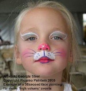 20 çocuk Yüz Boyama örneği Gülselim Carolina Kitty Face Paint