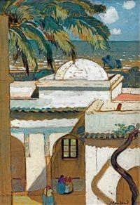 Peinture Algérie - Villa Abd el Tif, La coupole von Jean Bouchaud